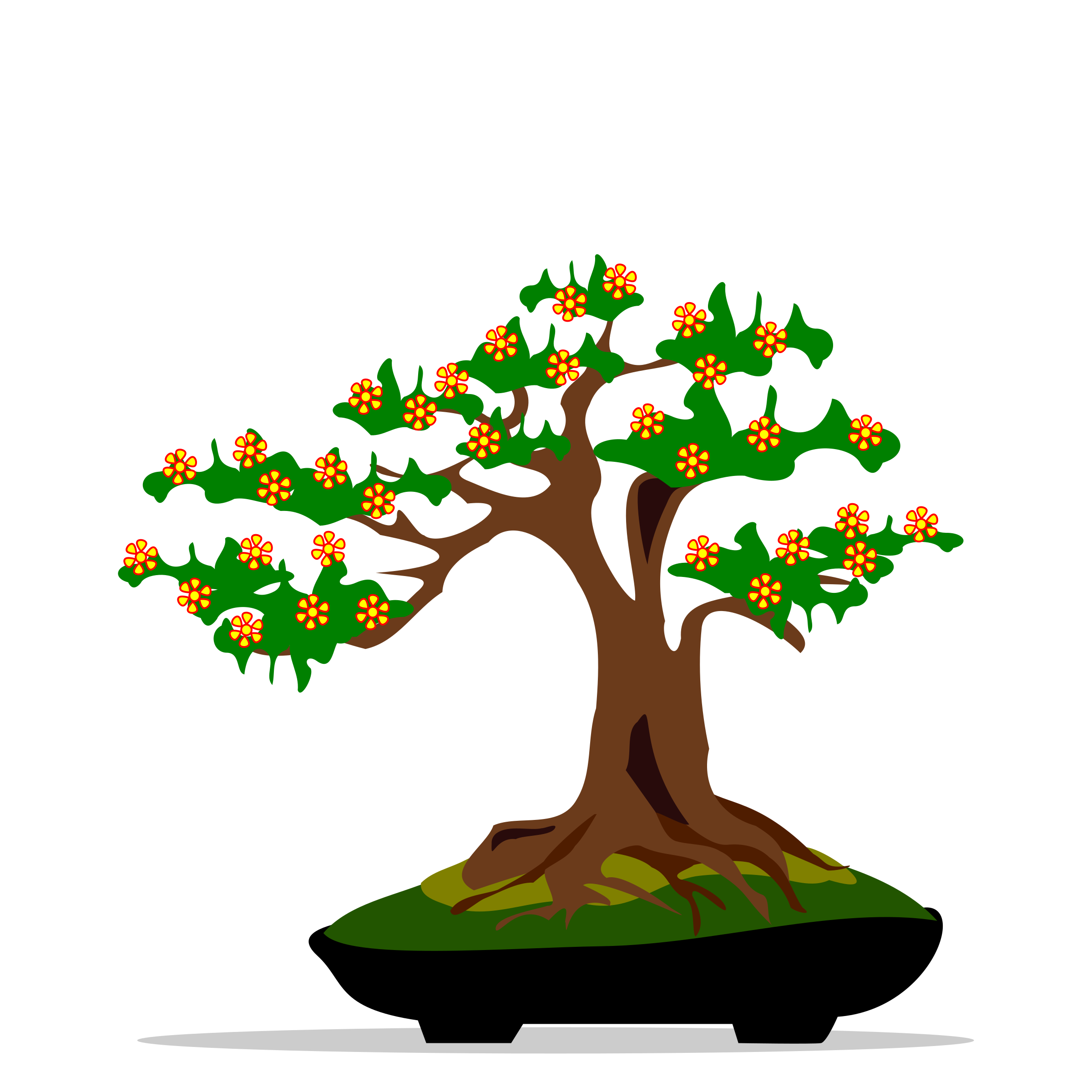 clipart free download bonsai drawing color png #90672818
