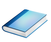 image royalty free library Png free images image. Book clipart blue