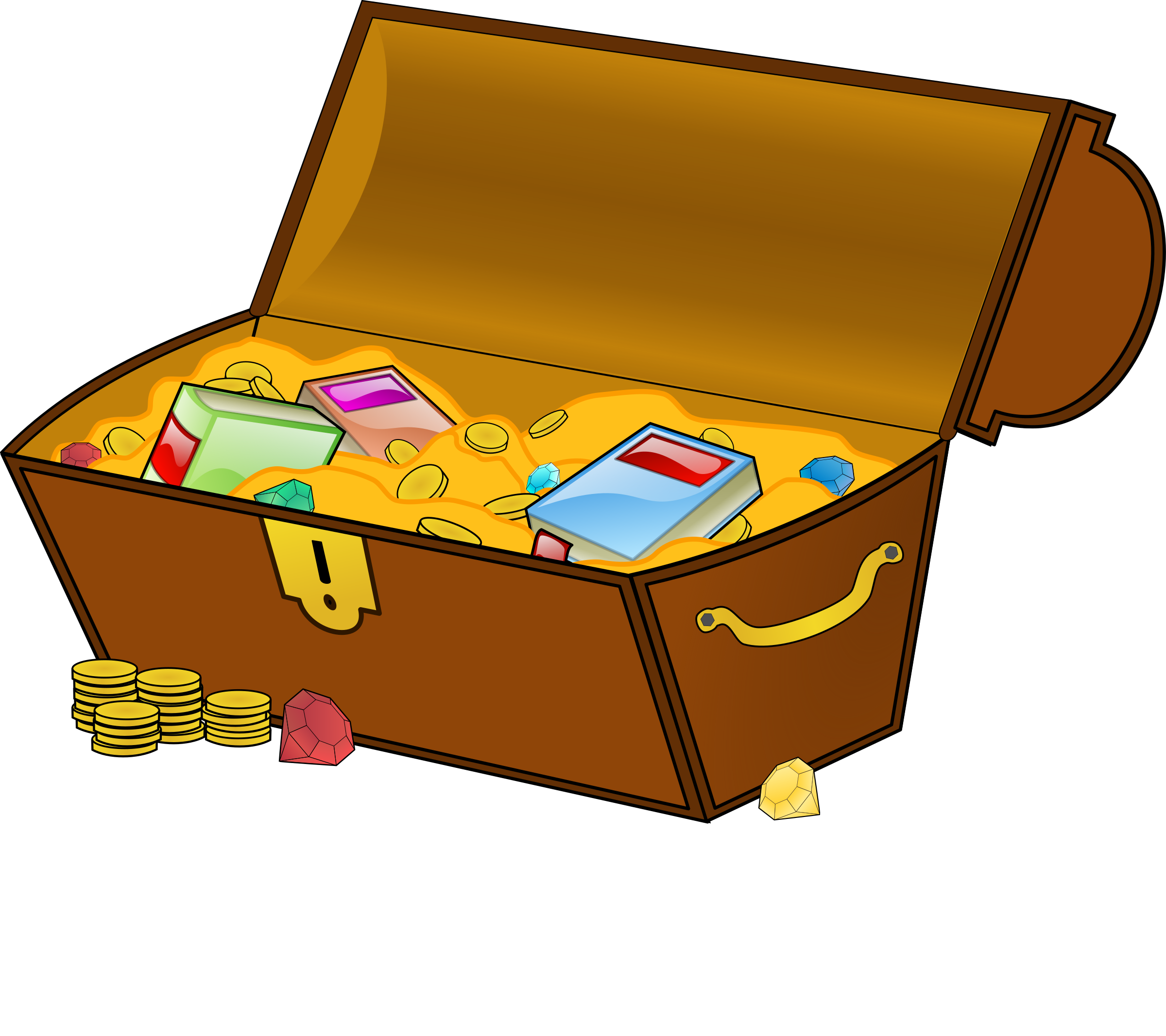 image library stock Treasure chest big image. Book clipart knowledge