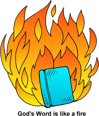 image freeuse library Image flaming bible clip. Book clipart word