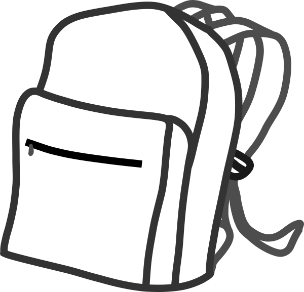 clipart free library Backpack clip art at. Bookbag clipart
