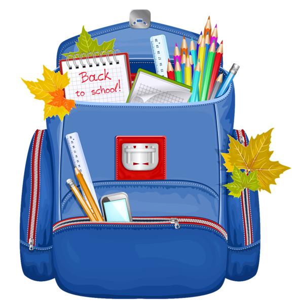 vector transparent library Blue school backpack png. Bookbag clipart
