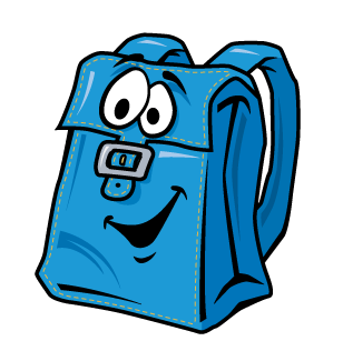 clip free stock Bookbag clipart blessing backpack. Thank you from donnie