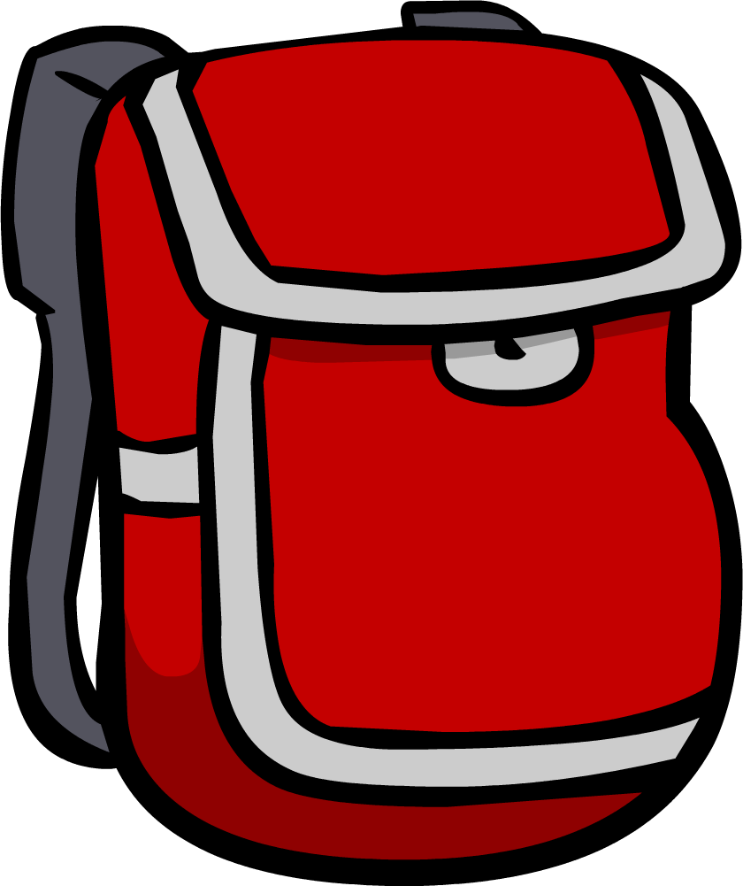 jpg freeuse download Bookbag clipart brown backpack. Red club penguin wiki