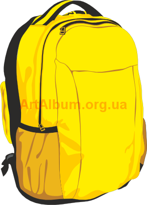svg library stock Yellow backpack vector artalbum. Bookbag clipart education indian