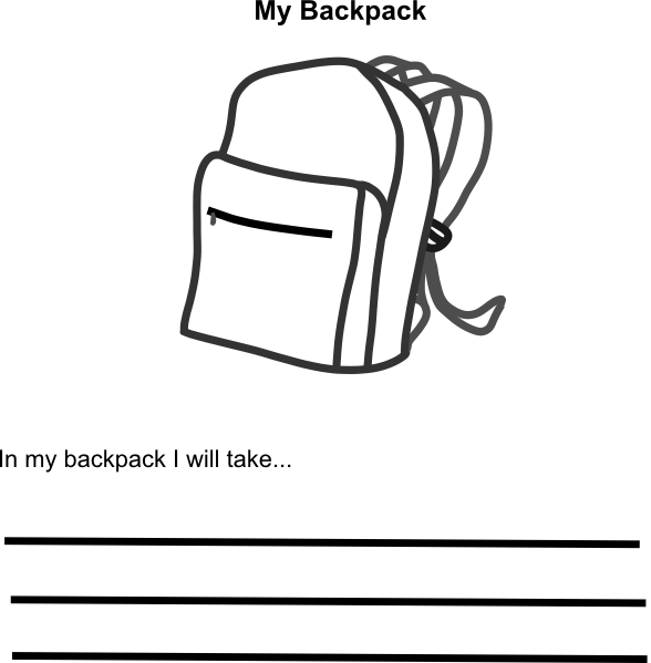 image royalty free stock In my clip art. Bookbag clipart empty backpack