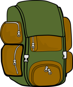 royalty free library  best tool backpack. Bookbag clipart heavy