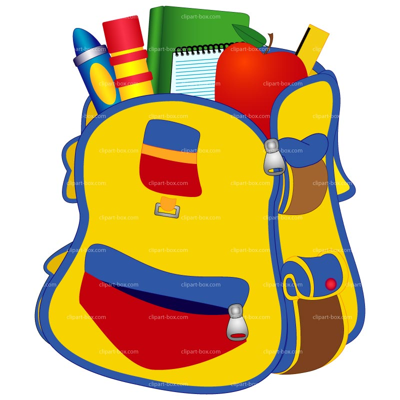 png black and white library Bookbag clipart sschool. School backpack library free