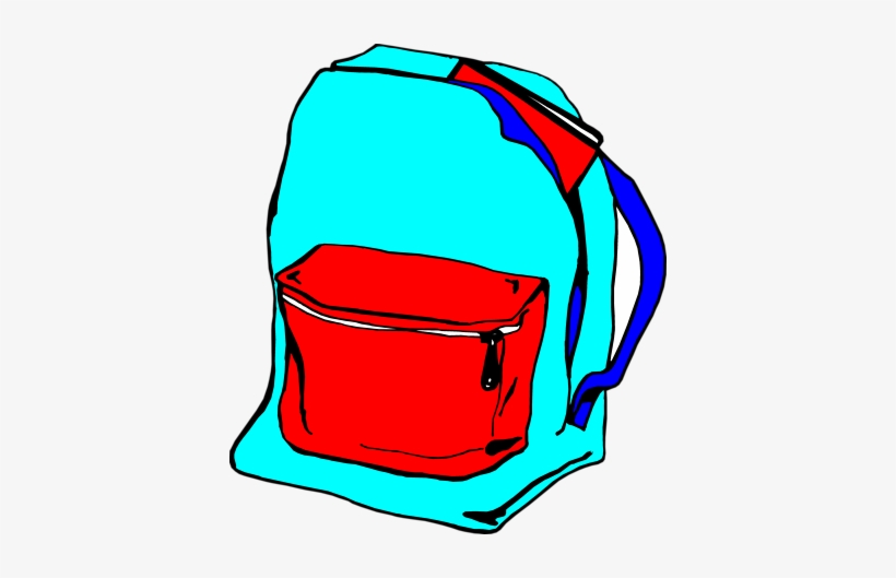 graphic library stock Backpack unzip bag transparent. Bookbag clipart unzipped