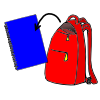 clipart stock Lessonpix out. Bookbag clipart unzipped