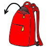 clipart stock Bookbag clipart unzipped. Lessonpix out