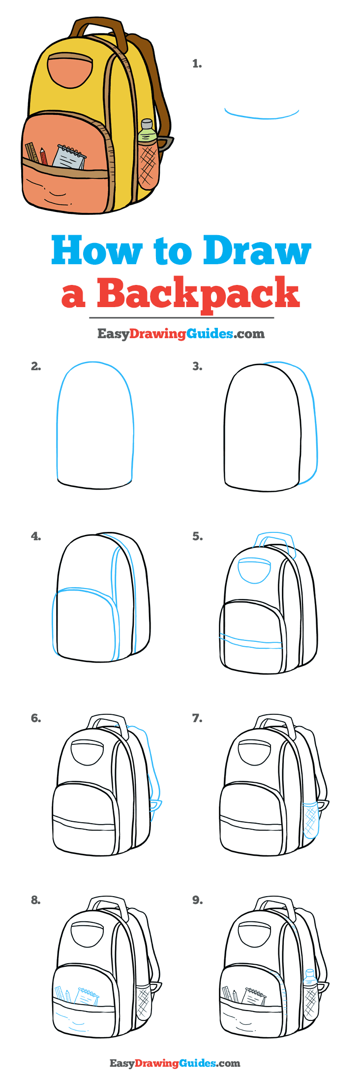 png library stock Bookbag drawing. How to draw a.