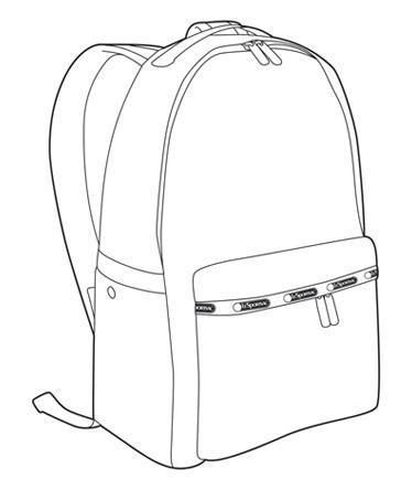clip art free download Backpack bag sketches in. Bookbag drawing.