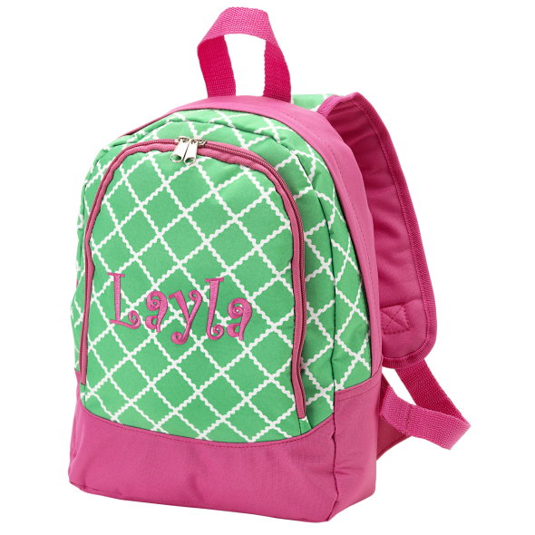 clip transparent Monogrammed Preschool Backpack