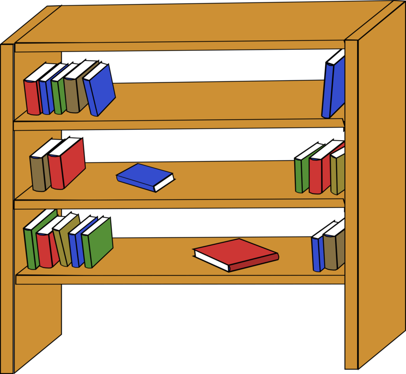 image royalty free library Bookcase Shelf Table Download free commercial clipart