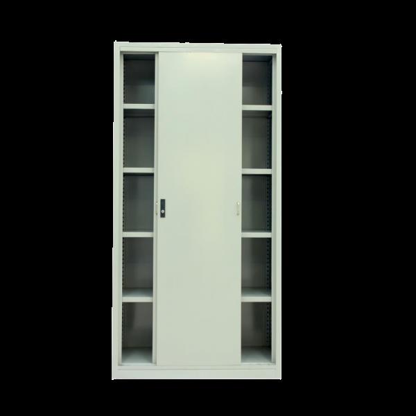banner library library Sliding Metal Door Full Height