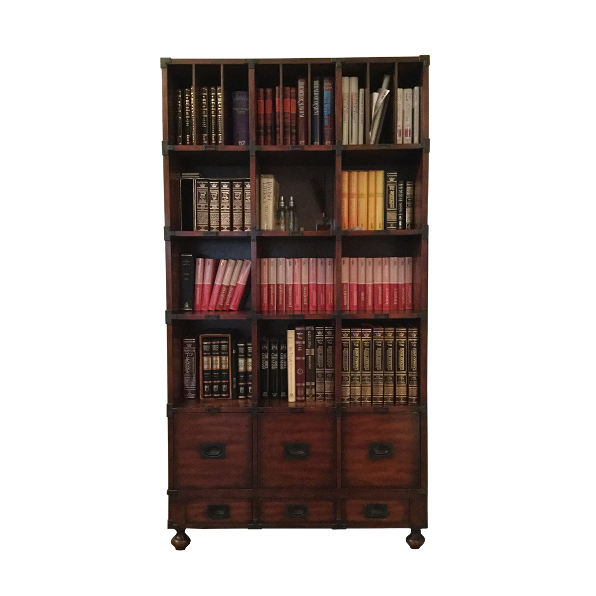 vector transparent stock Apothecary Style Bookcase