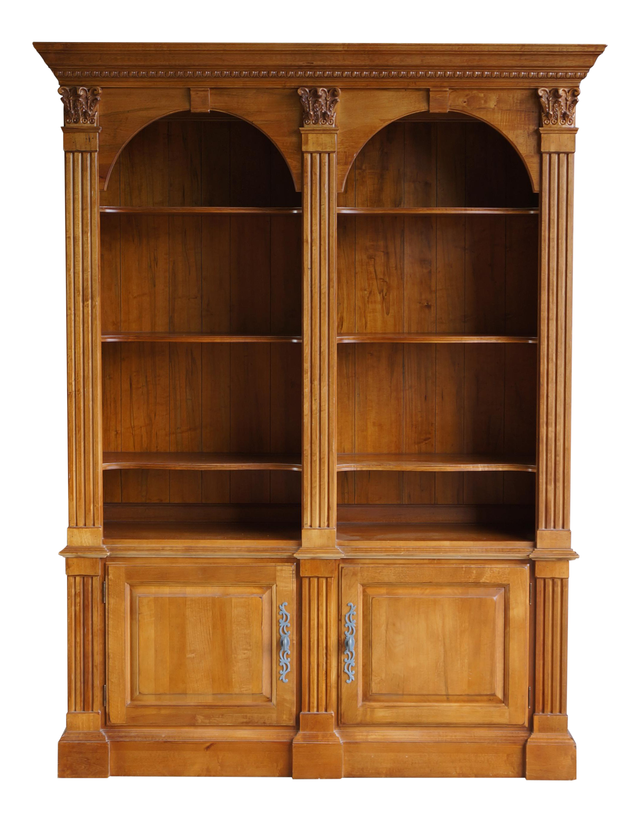 jpg free Ethan Allen Legacy Double Arch Library Bookcase Cabinet