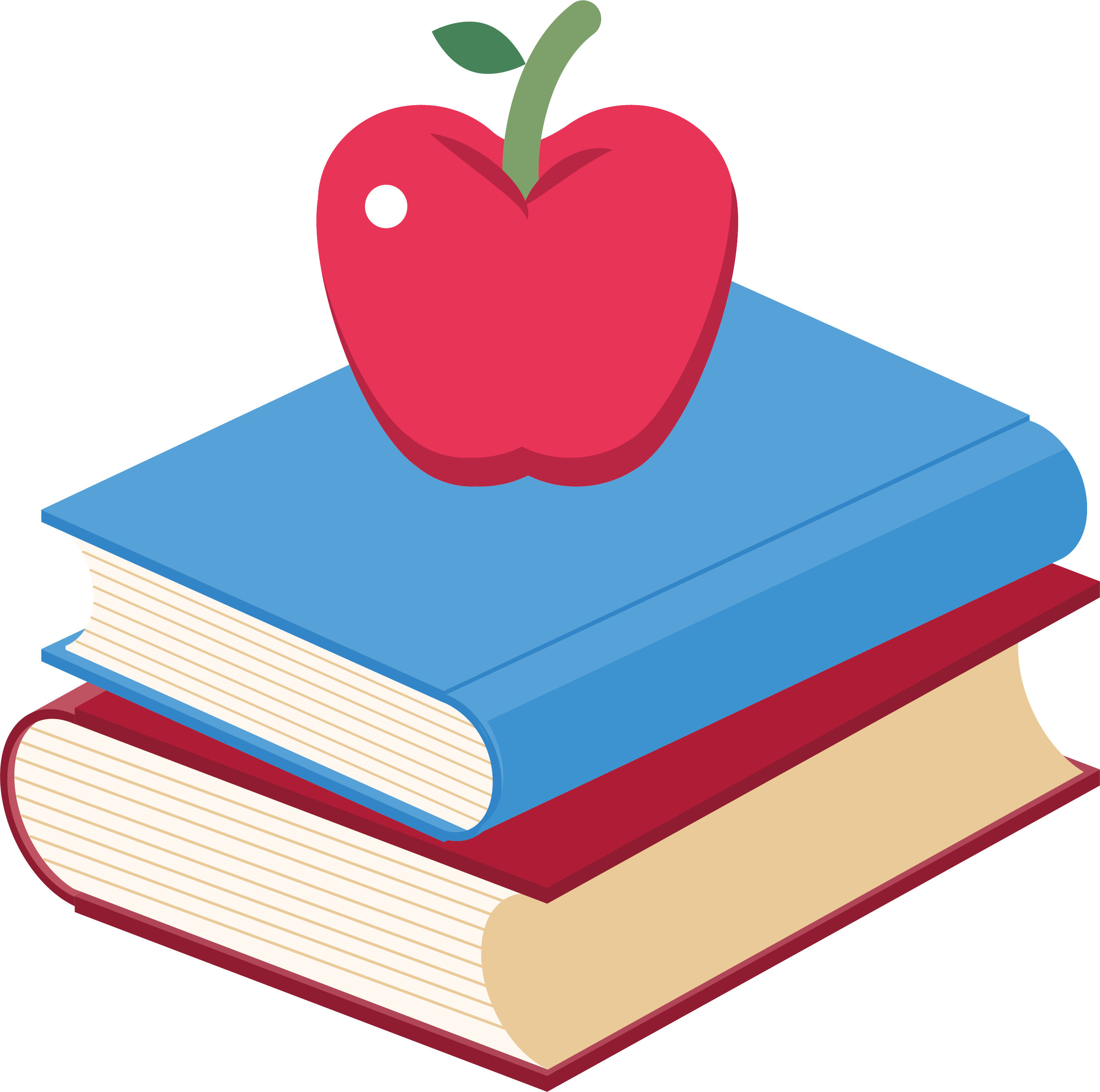 banner royalty free Book clip art two. Books and apple clipart