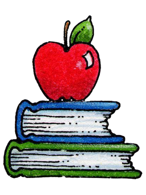 banner royalty free stock Student school paper drawing. Books and apple clipart