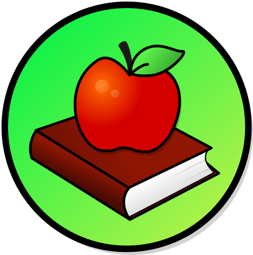 clip File book svg wikimedia. Books and apple clipart