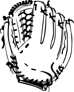 image free library Glove by gerald g. Books clipart baseball