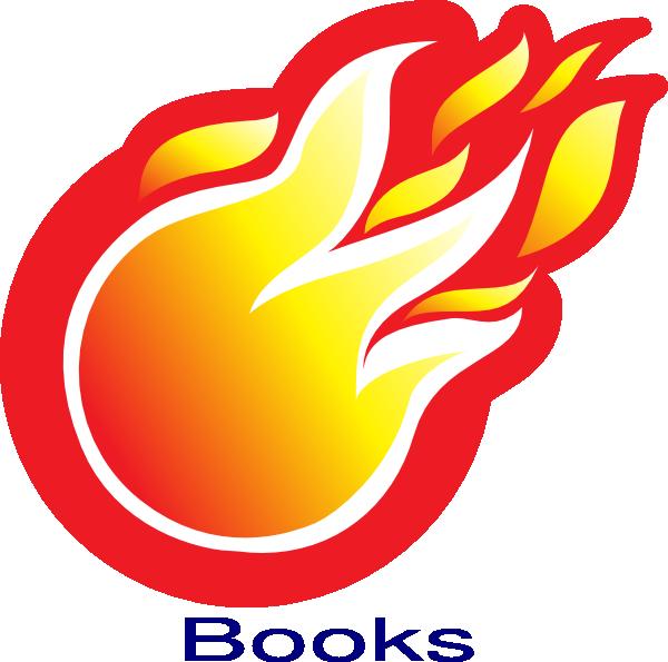 jpg library download Books clipart baseball. Fire ball clip art