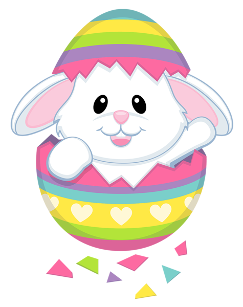 clip library library Cute Easter Bunny Transparent PNG Clipart