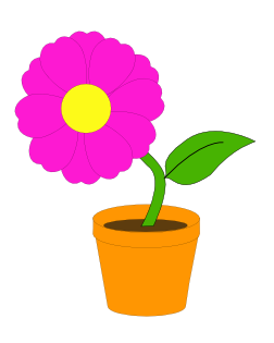 image free library Book pencil and in. Books clipart flower