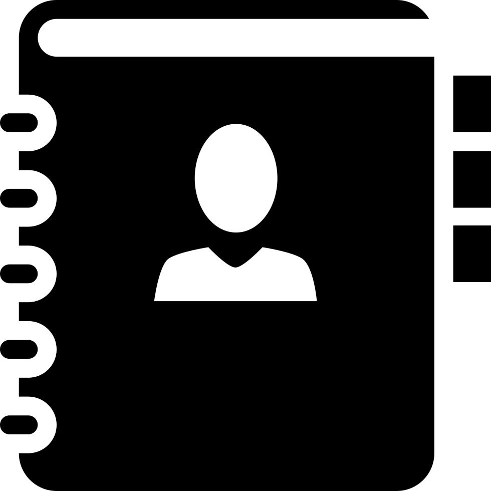 banner transparent download Address book png icon. Books svg bitmap