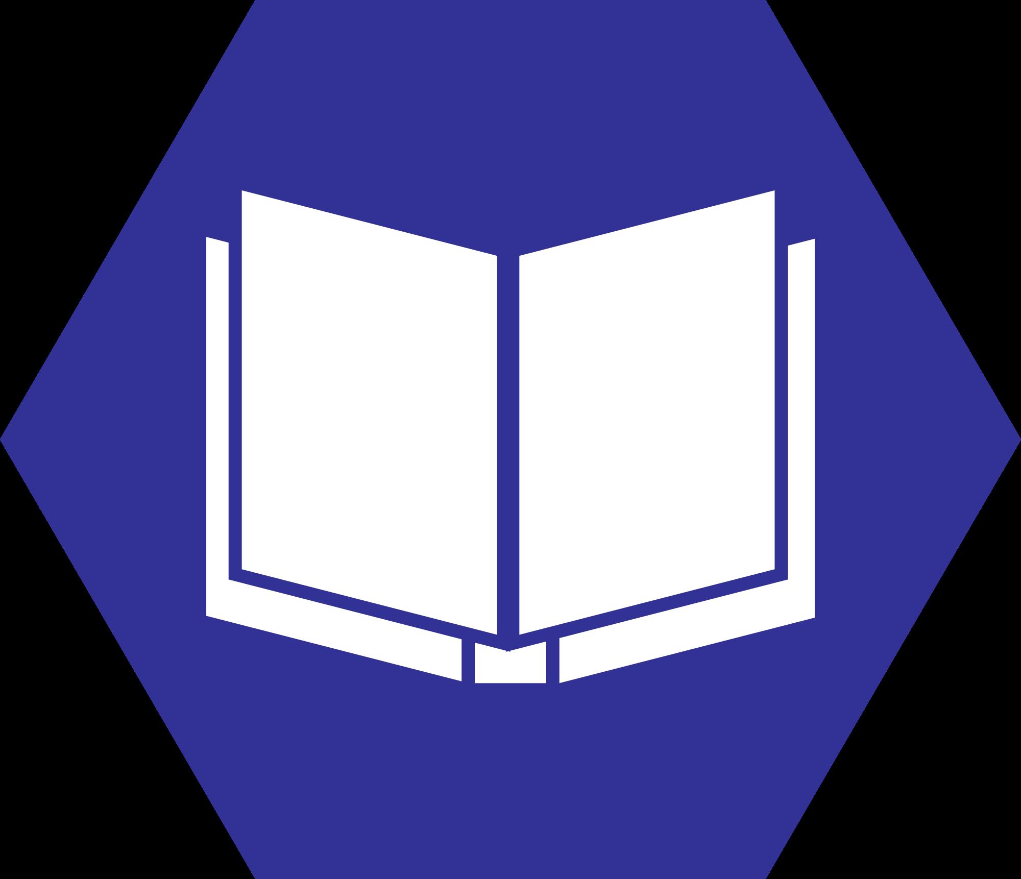 banner transparent download File book hexagonal icon. Books svg bitmap