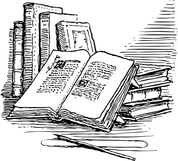 image free library Clip art free vector. Books svg drawing