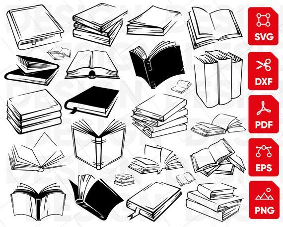 clipart royalty free library Open book bundle clipart. Books svg drawing