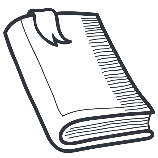 black and white Books svg outline. Hand drawn academic by