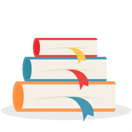 freeuse Books svg silhouette. School scrapbook cut file