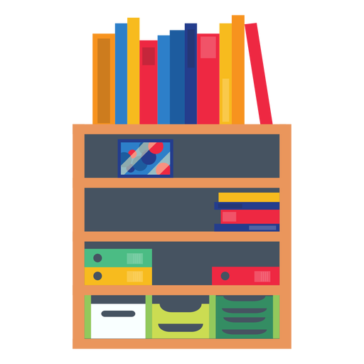 clip freeuse library Office shelf transparent png. Bookshelf clipart.