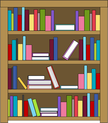 vector royalty free download Bookshelf clipart. Free bookcase cliparts download.