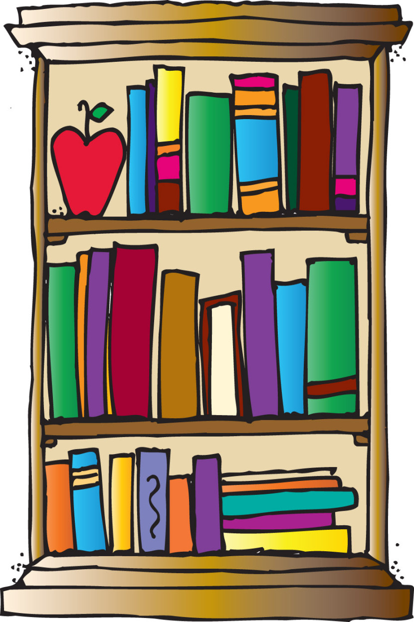 vector royalty free download Bookshelf clipart. Free bookcase cliparts download