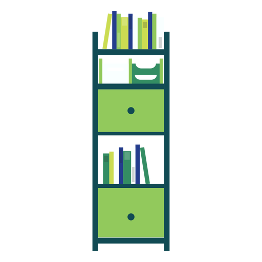 vector black and white download Green office transparent png. Bookshelf clipart
