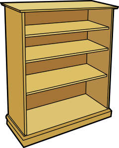 png royalty free library Bookcase clip art at. Bookshelf clipart animated
