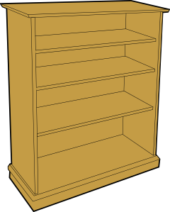 png royalty free library Bookshelf clipart animated. Bookcase clip art at