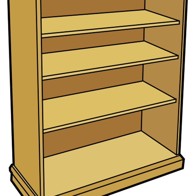 clipart free  shelves clip art. Bookshelf clipart arranged
