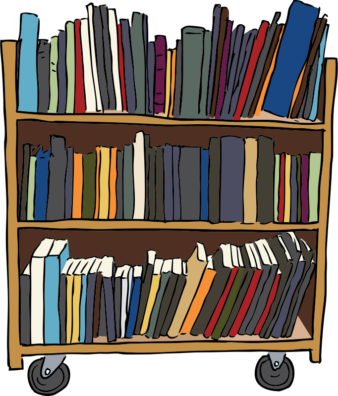 royalty free stock Library Shelves Clipart