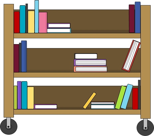 banner freeuse stock  collection of book. Bookshelf clipart bibliotheque