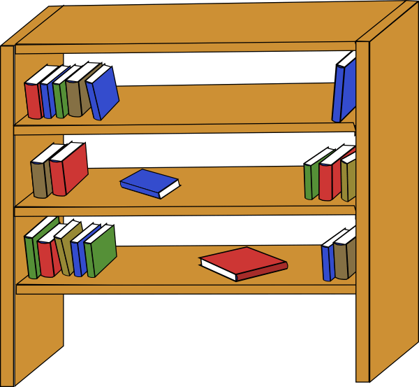 picture royalty free Furniture library shelves books. Bookshelf clipart empty store