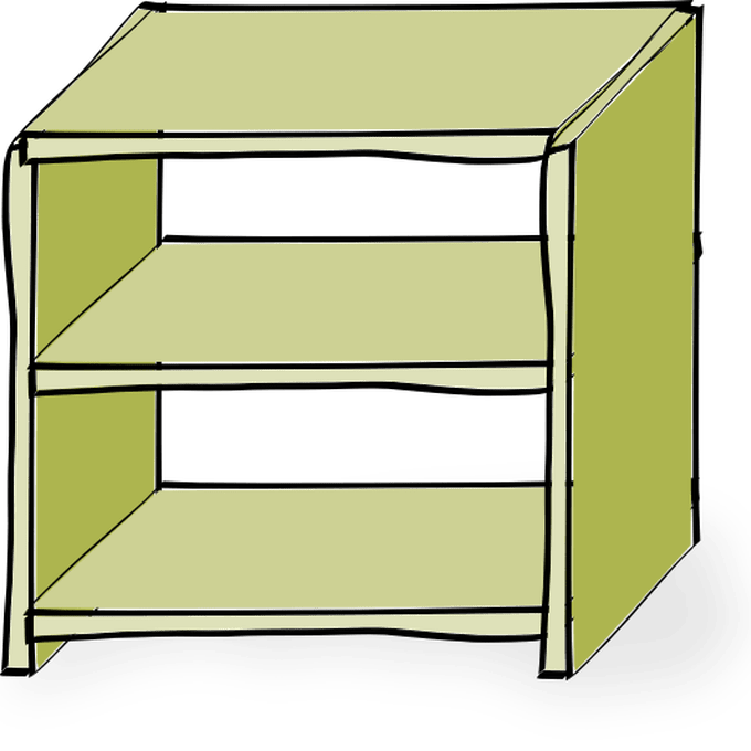 picture freeuse download Bookshelf clipart empty store. Shelf transparent pencil and