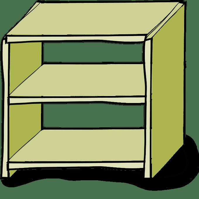 jpg transparent Bookshelf clipart genre.  shelves clip art