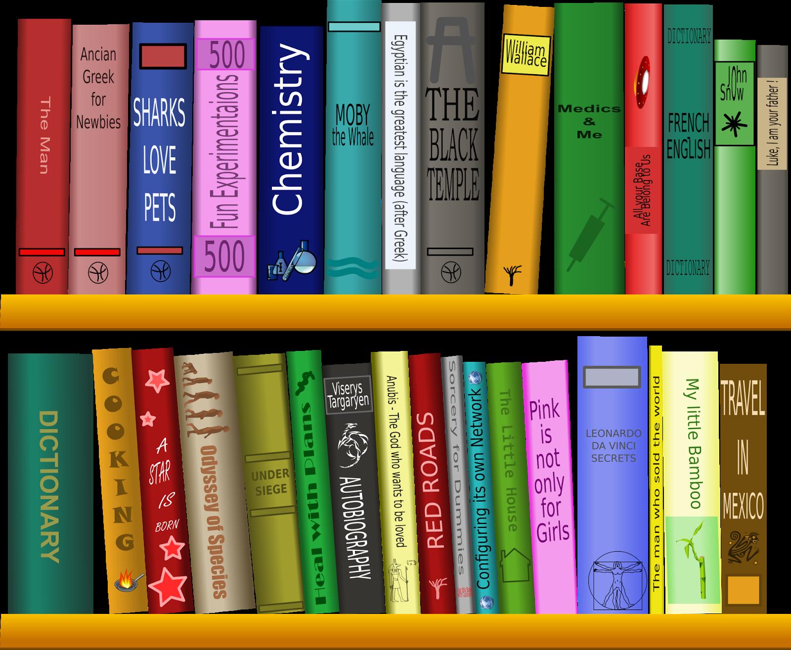 clip art royalty free library Bookshelf clipart genre. S f powell sans