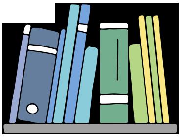 banner free stock Litographs scarves . Bookshelf clipart genre