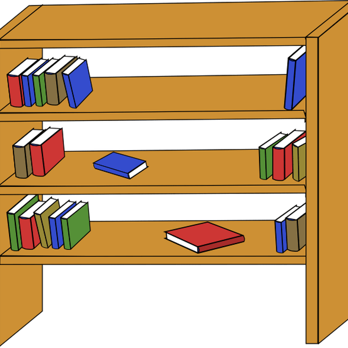 graphic transparent download Bookshelf clipart genre.  shelves clip art